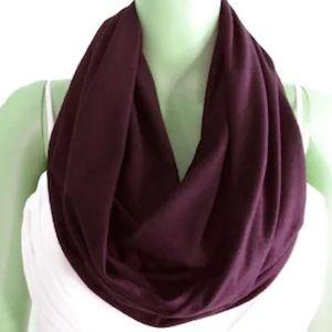 Aritzia scarf plum infinity circle knit purple
